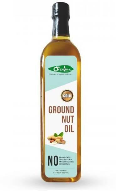 orgatma Cold Pressed Groundnut Oil (Gold) (Pack of 2) Groundnut Oil Plastic Bottle