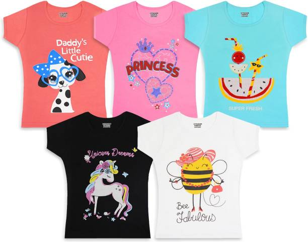 Billion Girls Printed Cotton Blend T Shirt