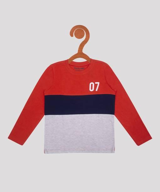 Miss & Chief Boys Colorblock Pure Cotton T Shirt