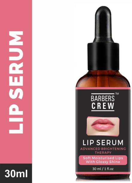 Barbers Crew Lip Serum - Advanced Brightening Therapy for Soft, Moisturised Lips With Glossy & Shine- Natural