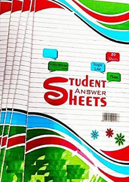 clipper STUDENT ANSWER SHEETS 100PC BOTH SIDE RULED 32*19 80 gsm Multipurpose Paper