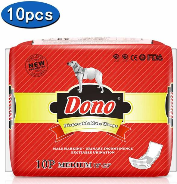 Dono Dog Male Jeans Super Absorbent Soft Pet Diapers Doggie Wraps for Male Puppy Dogs,Leak Protection Excitable Urination or Incontinence Washable Dog Diapers