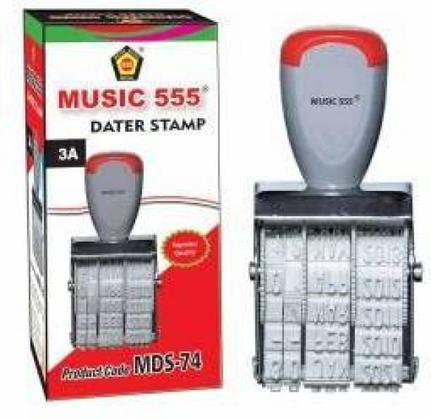 Music 555 Dater Stamp / Date Stamp Rubber Stamp