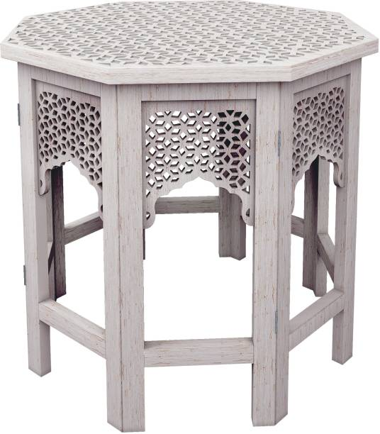 House of Pataudi Wooden Handcrafted Carved Solid Folding Coffee Table Solid Wood Side Table Solid Wood Side Table