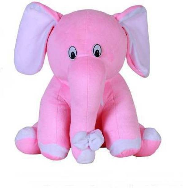 Ms Aradhyatoys pink soft elephant 27cm (pink) 27 cm  - 27 cm