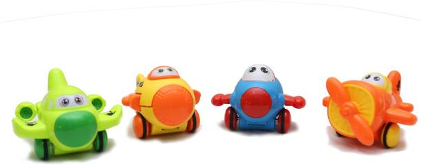 Smartcraft Friction Four Piece Lovely Cars- Multicolor
