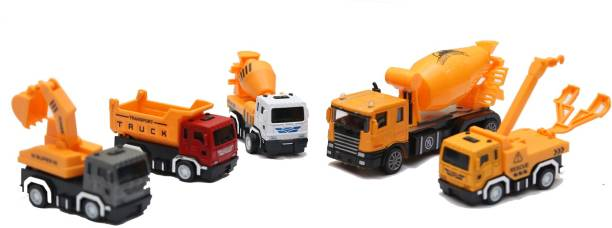 Smartcraft Metal Truck Set, 5 different Toy Trucks for 3 Years old and above - Multicolor