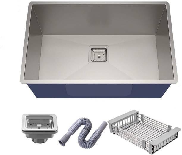 """AVLEN 24"""" X 18"""" X 10"""" 304 GRADE HANDMADE Stainless Vessel Sink(MATT FINISH) KITCHEN SINK Vessel Sink"""