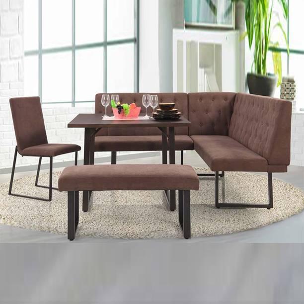 RoyalOak Metal 6 Seater Dining Set