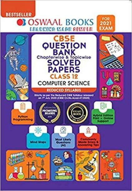 Oswaal Cbse Question Bank Class 12 Computer Science Chapterwise & Topicwise Solved Papers (Reduced Syllabus) (for 2021 Exam)