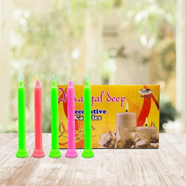 AuraDecor Mangaldeep 4*15 candles Candle