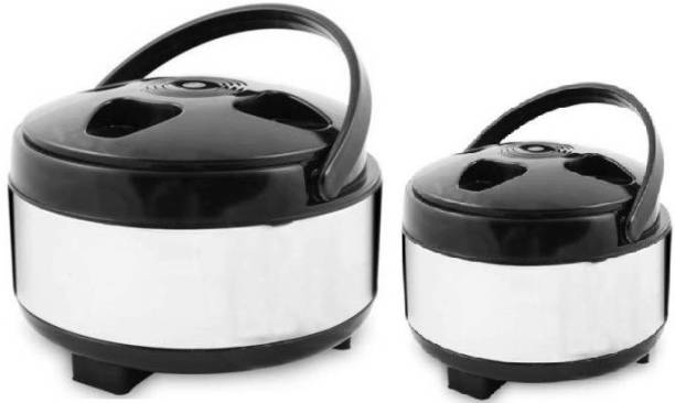 Nestra Casserole/Hotpot chapati box/chapati container/hot case Casserole Thermoware Casserole(1500ml,2000ml) Pack of 2 Cook and Serve Casserole Set