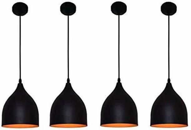 LUMINA PLUS LED LIGHTING Metal E26/E27 Pendant Ceiling Hanging Lights Lamp (Black) Size: 23 * 17 * 17cm -Set of 4 Pendants Ceiling Lamp