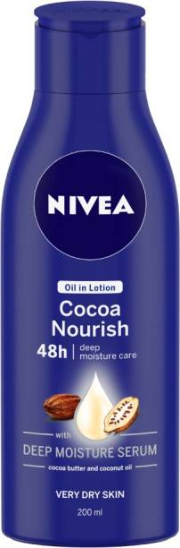 NIVEA Body Lotion for Very Dry Skin, Cocoa Nourish, with Coconut Oil & Cocoa Butter, For Men & Women
