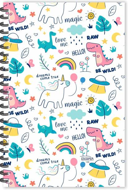 ESCAPER Magic Unicorn Doodle Diary (Ruled - A5 Size - 8.5 x 5.5 inches), Unicorn Doodle Diary, Zodiac Doodle Diary A5 Diary Ruled 160 Pages