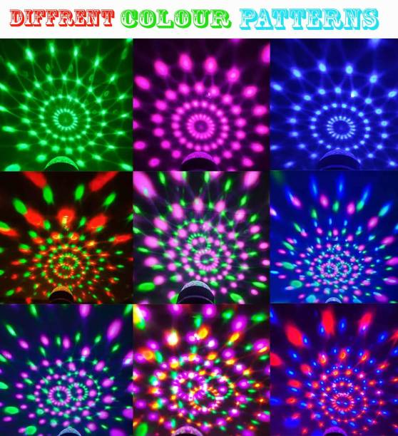 Sulfur Best Buy LED Crystal Rotating Bulb Amazing lighting Effect And Long Life Working Hours Perfect for Home/Festival Decoration & Great finish Single Disco Ball