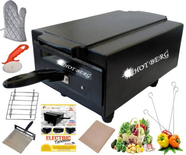 "HOT BERG ""16 Inches"" Electric Tandoor 2000 Watt Iron Electric Tandoor (Aluminium Tray, Shockproof Rubber Legs, Pizza Cutter, Magic Cloth, Glove and Recipe Book) Electric Tandoor"