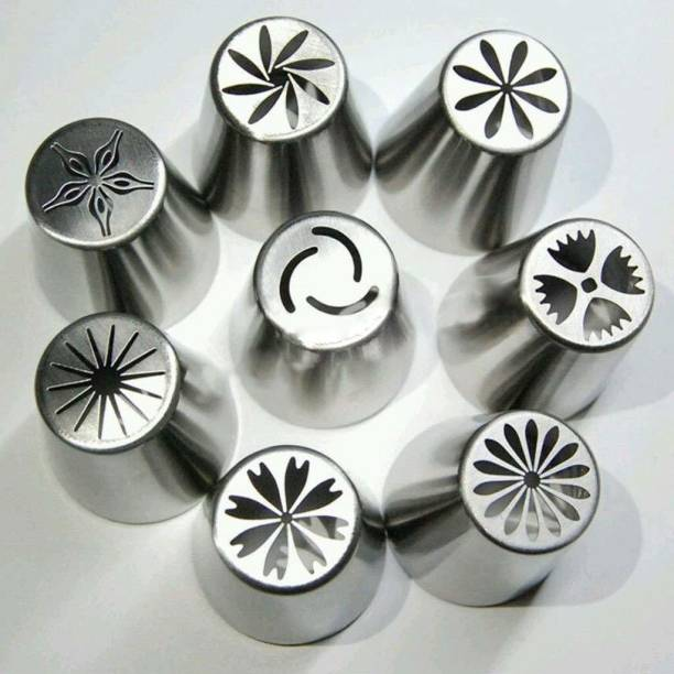 ALAMDAAR Stainless Steel Reusable Decorating Nozzle Set Steel Multi-opening Icing Nozzle