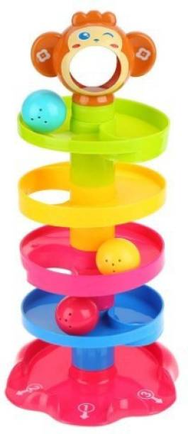 SANJARY Enlightening Roll and Swirl Ball Ramp Drop toy for kids (Multicolor)