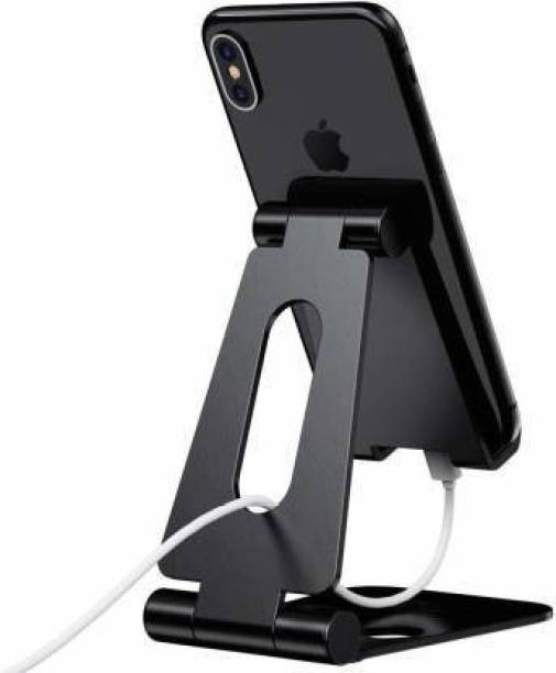 ELV Aluminum Adjustable Foldable Stand for All Smartphones and tablet Mobile Holder