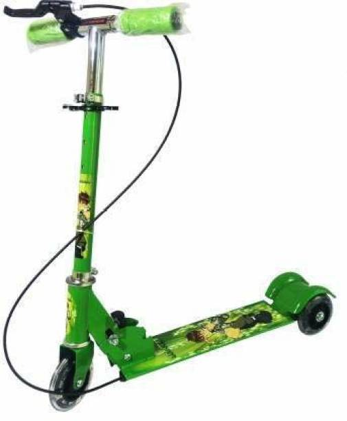 ANJANIPUTRA ENTERPRISE Road Runner Scooter for Kids of 3 to 14 Years Age 3 Adjustable Height, Foldable, LED PU Wheels & Weight Capacity 75 kgs Kick Scooter with Brakes