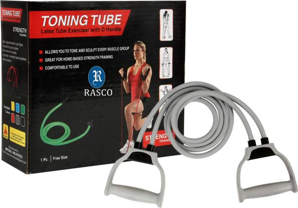 RASCO DOUBLE resistance band toning tube fitness pulling rope Resistance Tube
