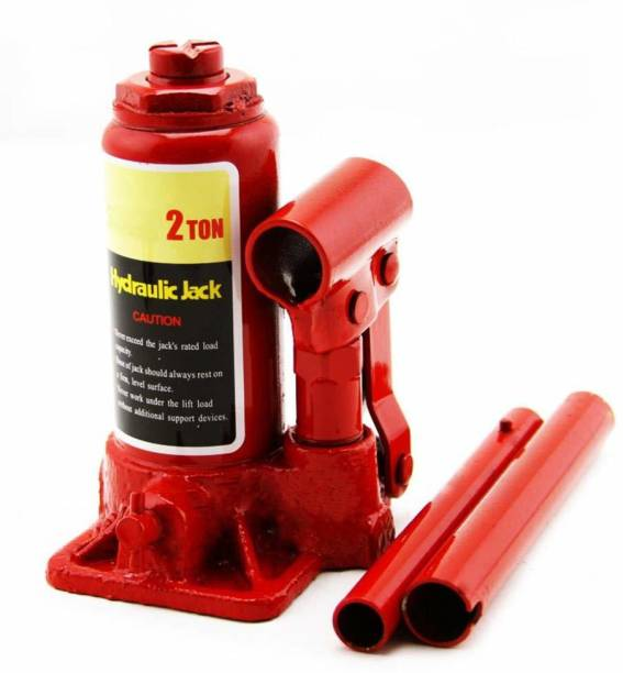 Buram Hydraulic Bottle/Car Jack for Stepney/Tyre Puncture Repair (2 Ton Capacity) Vehicle Jack Stand