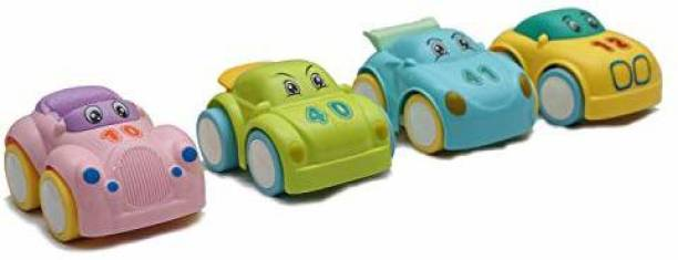Smartcraft Friction Powered 4 Piece Lovely Cars, Baby and Toddler Toys - Multicolor