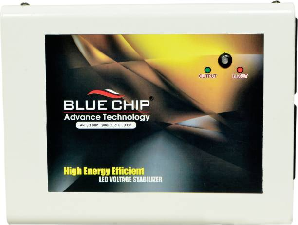 BLUECHIP 100% Copper BL72SmartTV3.2Amp TV Voltage Stabilizer for LED TV/Smart TV Up to 72 + Inches + Set Top Box + home theater , With 3 Years Warranty ( 100% Copper )