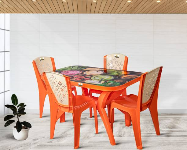 Smilemindia Plastic 4 Seater Dining Set