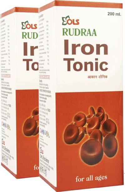 Rudraa Iron Tonic Beneficial in Iron Deficiency And Various Types Of Anemia Pack of 2 Each 200ml