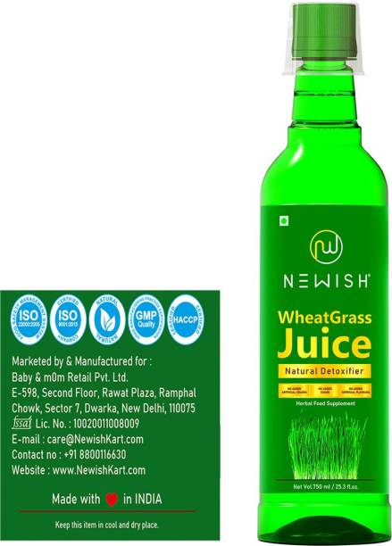 NEWISH Wheatgrass Juice Immunity Booster