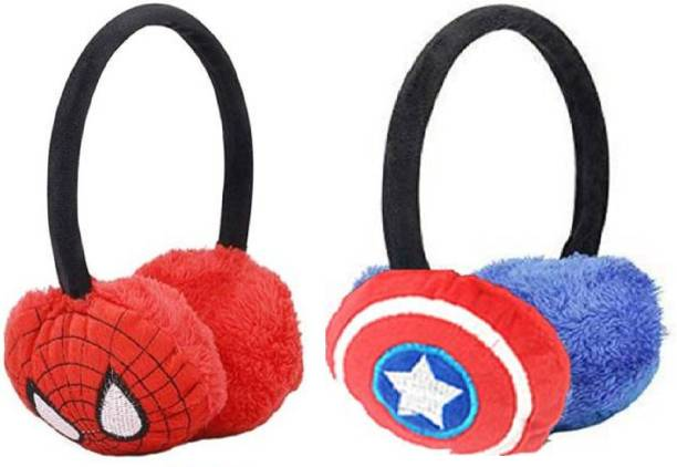 Kolva Kids Winter Warm Cartoon Hero Wear Ear Muff For Boys And Girls Ear Muff