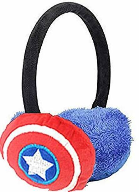 Kolva CAPTION AMERICA Winter Earmuff Solid Color Warm Ear Cover Protector Head Winter Earmuffs for Snow and Travel Outdoor Use, Ear Muffs for Winter for Women's and Boys,Girls, Kids. Ear Muff