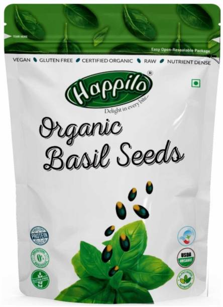 Happilo Premium Raw Organic Holy Basil (Sabja)