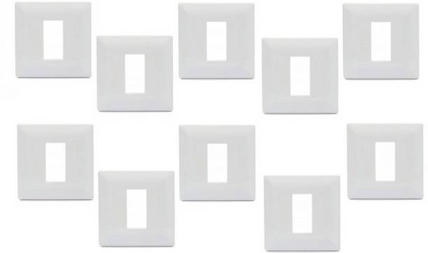 Schneider Electric Livia-3 Module Grid & 3 Module Cover Frame - White (Pack of 10) Wall Plate