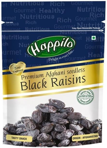 Happilo Premium Afghani Seedless Black Raisins