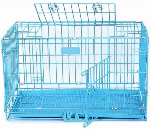 Pawwfect 30 Inch Pet Cage with removable Plastic Tray (Dogs, Rabbits, Hamsters) Suitable for Large Breeds or Adults up to 2 years only Hard Crate Pet Crate