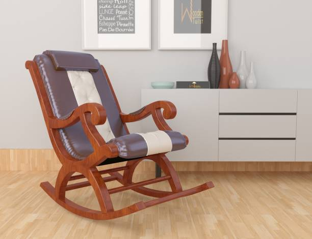 WoodenTwist AFR4064 Fabric 1 Seater Rocking Chairs