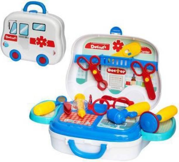 Kidz N Toys Portable Doctor Suitcase Doctor Kit For Kids Doctor Set, kit for Kids Boys Girls, Pretend Play