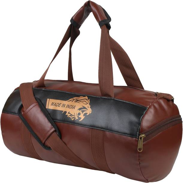 DEE MANNEQUIN Leatherite Gym Bag - Duffel Bag for Fitness Freaks Printed Sports Bag