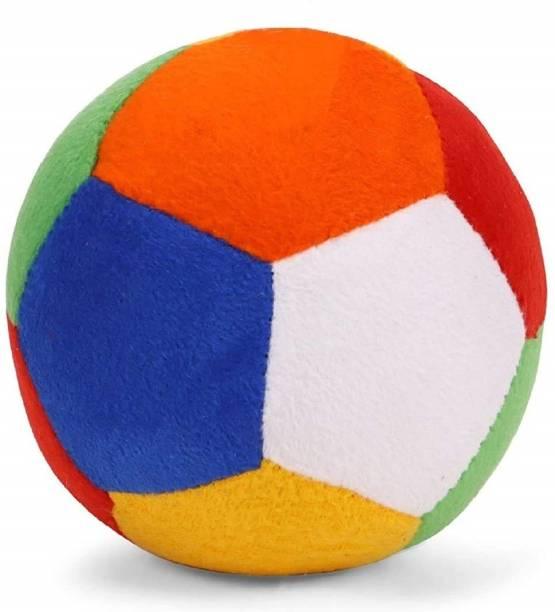 BABIQUE Ball Rattle Sound Soft Toy for Kids Baby Boy Girl Birthday (10 cm)  - 10 cm