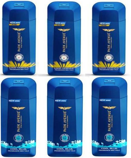 PARK AVENUE 3 COOL BLUE TALC (100 GM) + 3 GOOD MORNING TALC (100 GM)