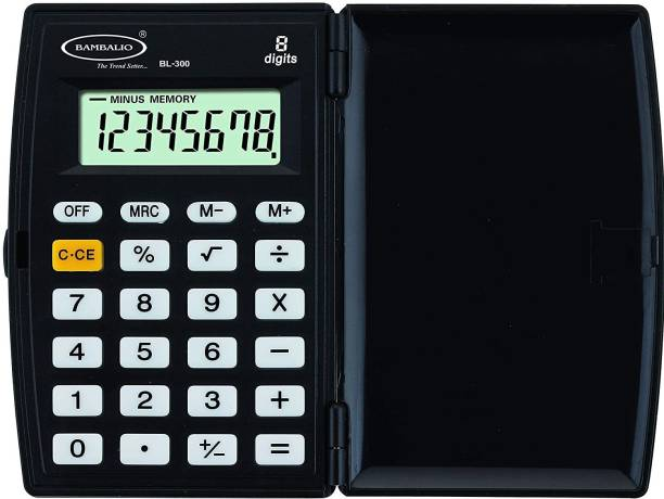 BAMBALIO 8 Digits BL-300 Black 3 Years Warranty Portable Pocket Basic  Calculator