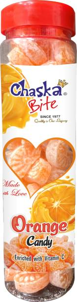 CHASKA BITE  Orange Candy khatti Meethi  Orange flavor Candy