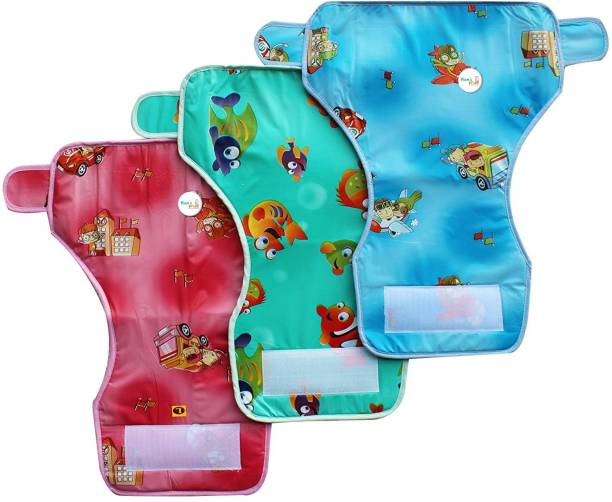 MOM'S PRIDE Reusable Baby New Diaper Towel with Waterproof Plastic (Set of 3)