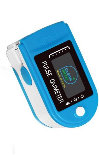 CLEAN MEDS Oximeter Finger Tip Blue Oximeter Digital Pulse Reader with Color Display - Water Resistant Pulse Oximeter Pulse Oximeter