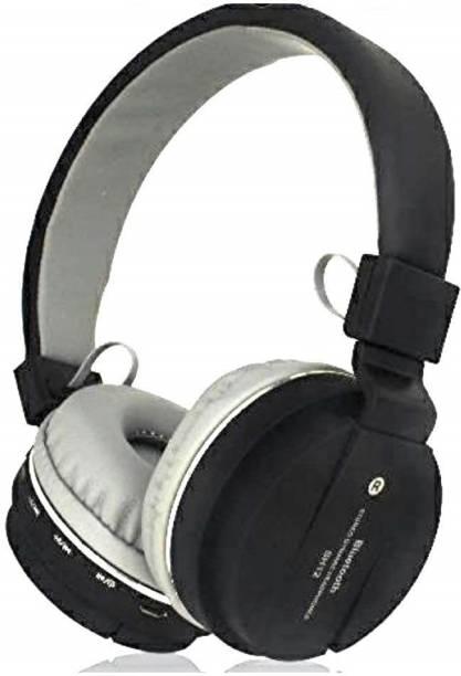 Dkon SH 12 Black Bluetooth Headphone with SD Card Slot Bluetooth Headset