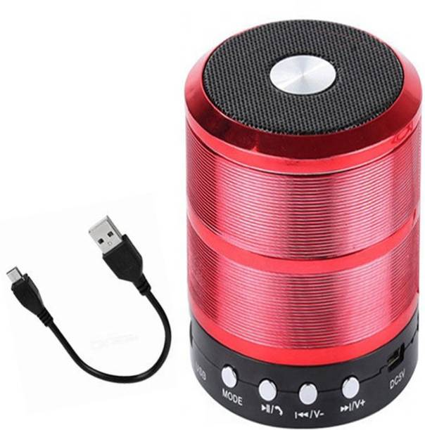 Wolgite WS 887 Mini Speaker, Music Speaker/with All Device/Random, 3D Bass waterproof/splash proof, Highsound /Multi function Speaker, mini Blast , thunder sound Wireless Bluetooth Speaker for Car/Laptop/Home audio High sound,& gaming With USB/FM/TF card & Pen Drive line in aux supported,Mega bass Speaker, LED Bluetooth speakers,Mini Bluetooth Speaker J!B^L Speaker, Bluetooth Party Speaker 10 W Bluetooth Speaker