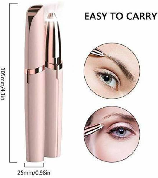 SWARNI CREATION Eyebrow Trimmer Pen Runtime: 120 min Trimmer for Women (Gold)  Runtime: 120 min Trimmer for Women